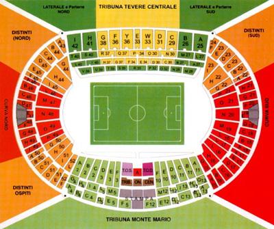 Cartina Stadio Olimpico Roma.Stadio Olimpico
