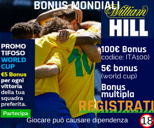 Bonus Mondiali William Hill