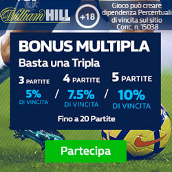 Scommessa Multipla Bookmakers William Hill